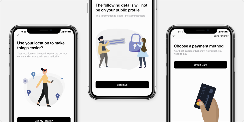 New look and feel for Optix's mobile onboarding on iOS