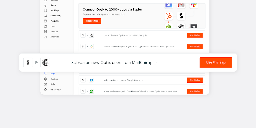 Screenshot from Zapier shows text on white background.